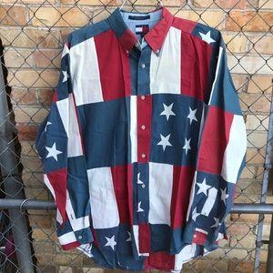 Vintage Tommy Hilfiger American Flag shirt